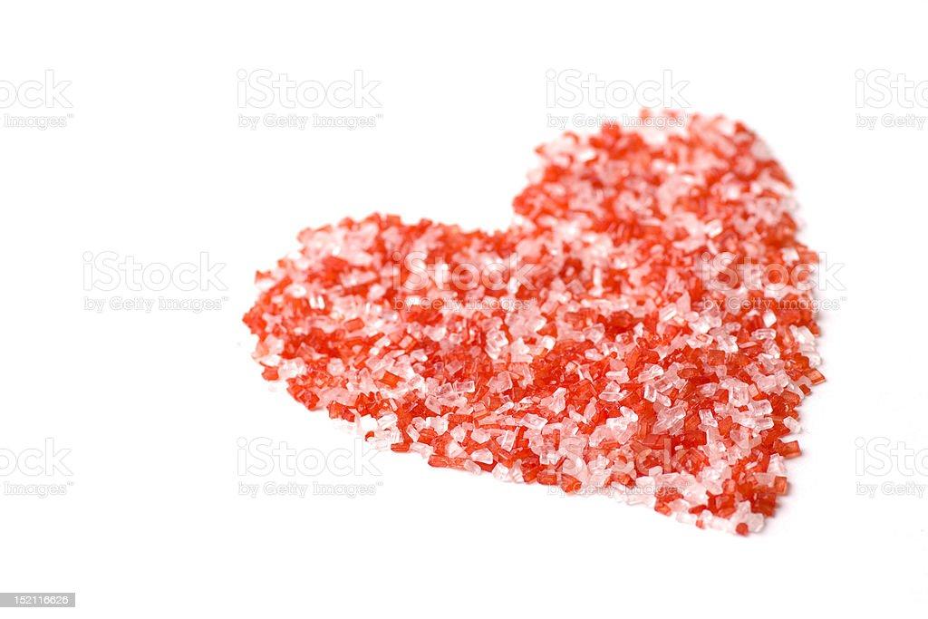 Sweet Heart Sugar Crystals royalty-free stock photo