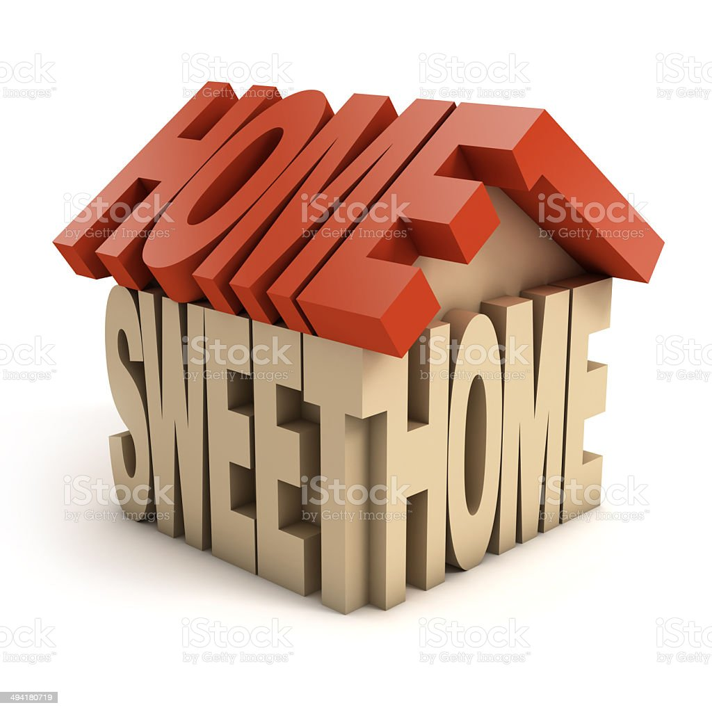 sweet home 3d letters stock photo