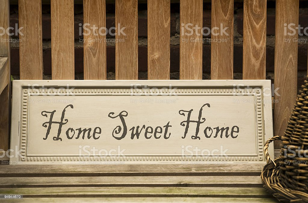 sweet home sign stock photo