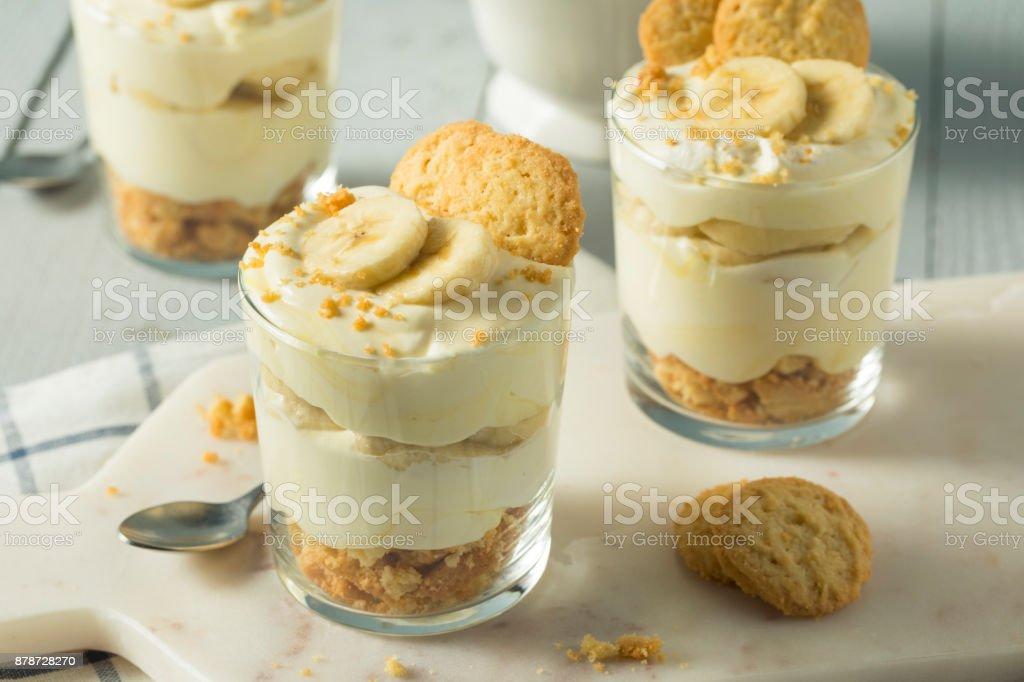 Sweet Homemade Banana Pudding - Royalty-free Alimentação Saudável Foto de stock