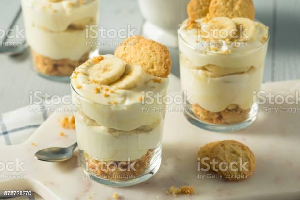 Sweet Homemade Banana Pudding - Fotografias de stock e mais imagens de Alimentação Saudável