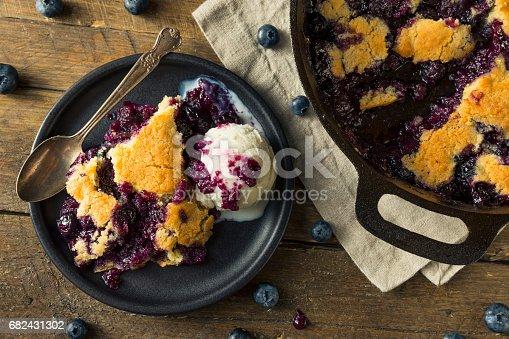 istock Sweet Homemade Blueberry Cobbler Dessert 682431302