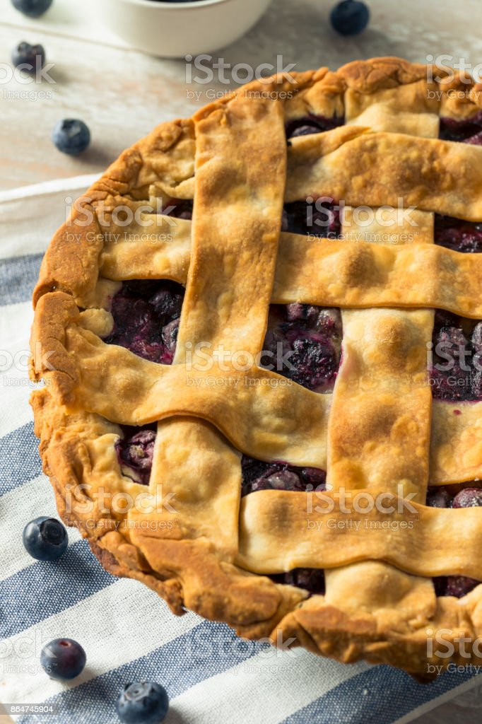 Sweet Homemade Blueberry Pie stock photo