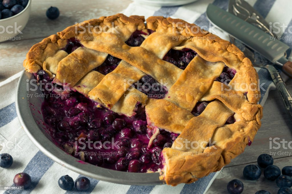 Sweet Homemade Blueberry Pie