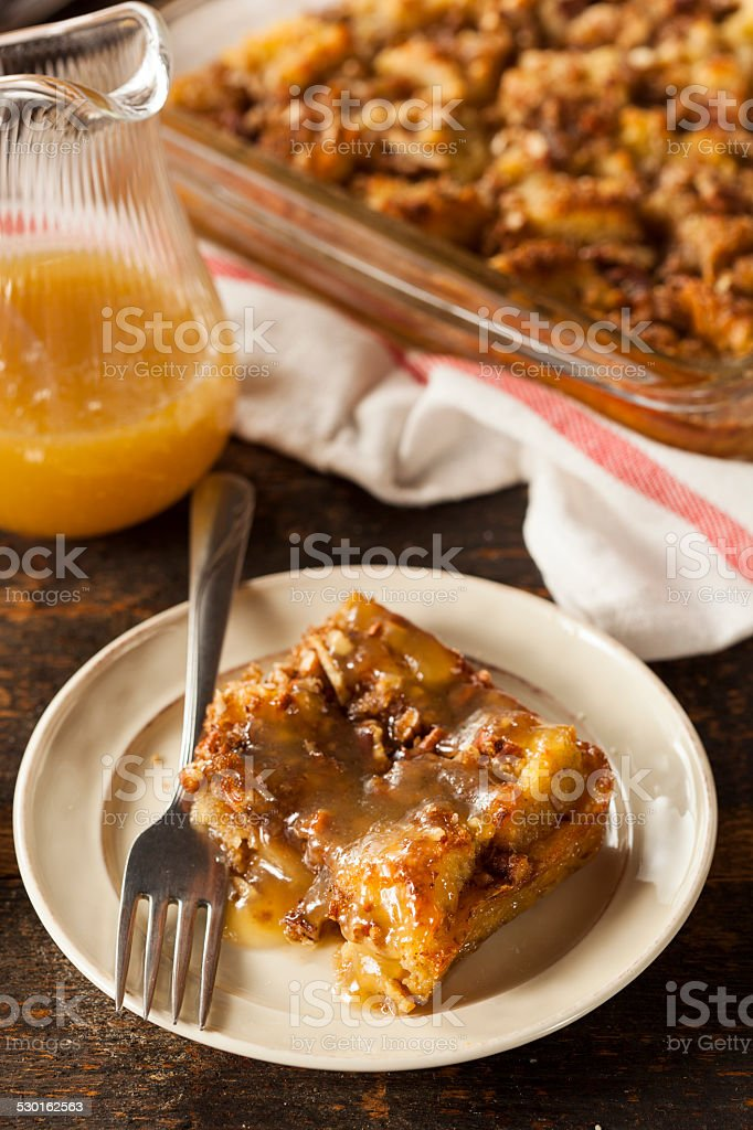 Sweet Homemade Bread Pudding stock photo