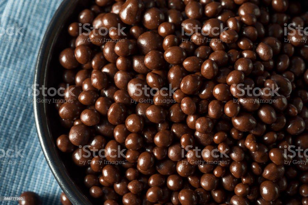 Sweet Homemade Chocolate Covered Hemp Seeds photo libre de droits
