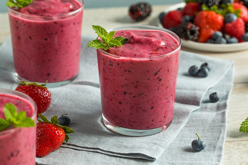 istock Sweet Homemade Healthy Berry Smoothie 839497302