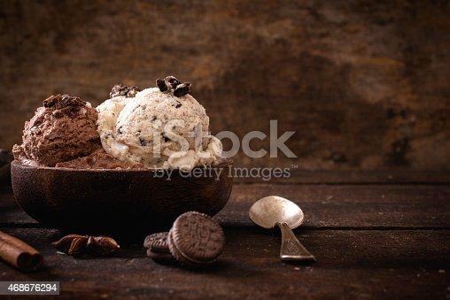 istock Sweet homemade ice cream 468676294