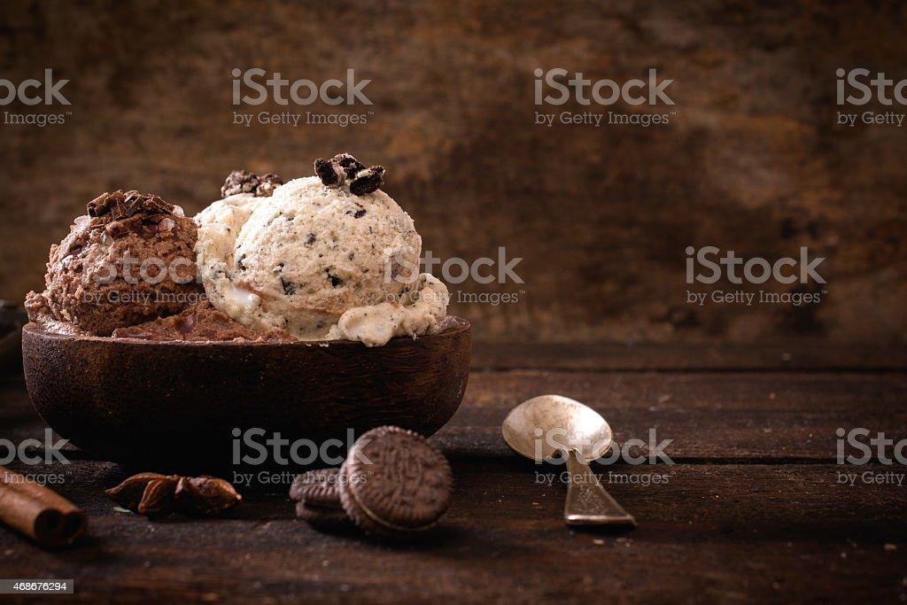 Sweet homemade ice cream stock photo