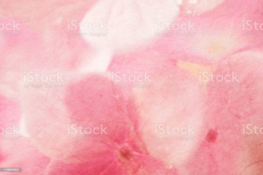 Süße Hortensien in weichen Farben Stil auf mulberry Papier Textur – Foto