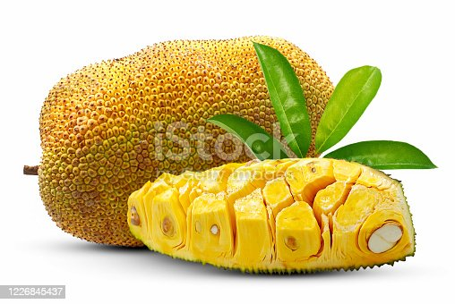 Sweet Jackfruit isolated on white background