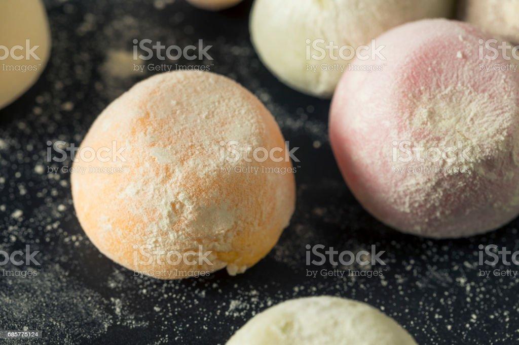 Sweet Japanese Mochi Ice Cream royalty-free stock photo
