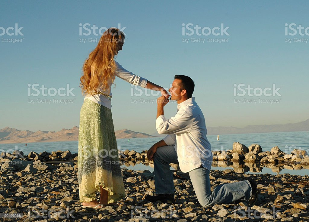 Sweet Kiss on the Hand royalty-free stock photo
