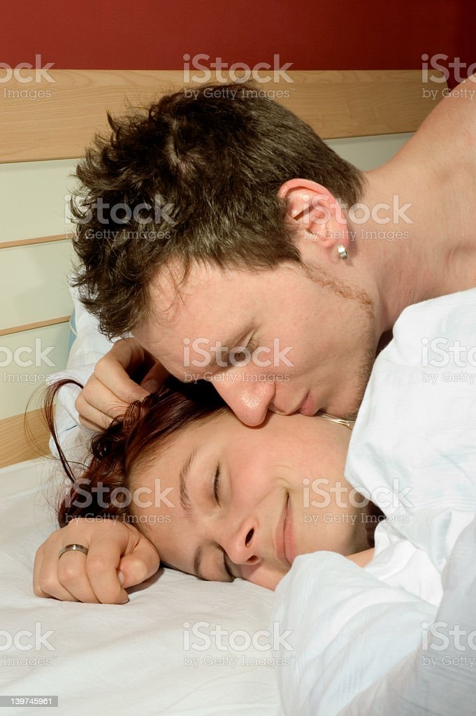 sweet kiss royalty-free stock photo