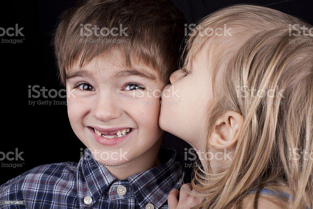 Sweet Kiss royalty-free stock photo