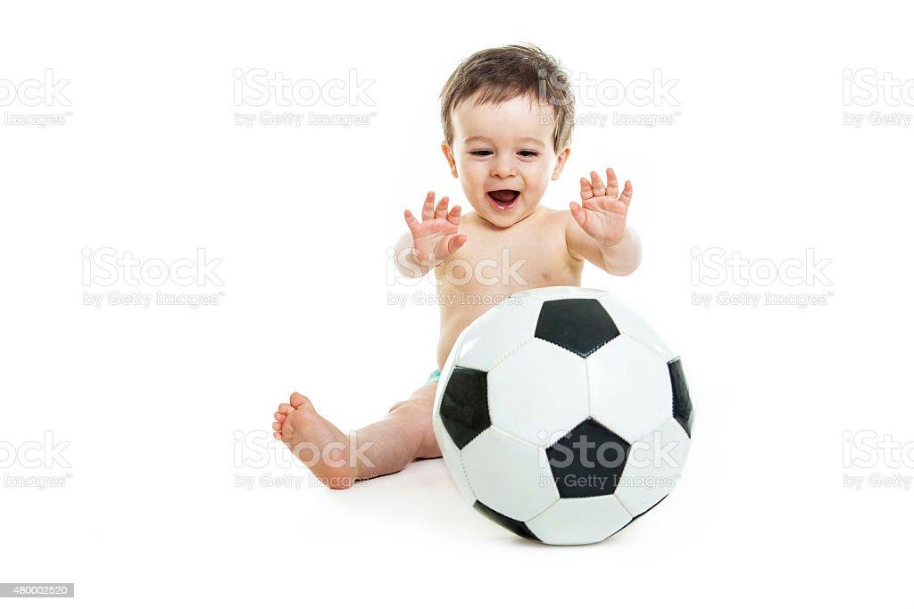 Sweet little boy sala de estar - foto de stock