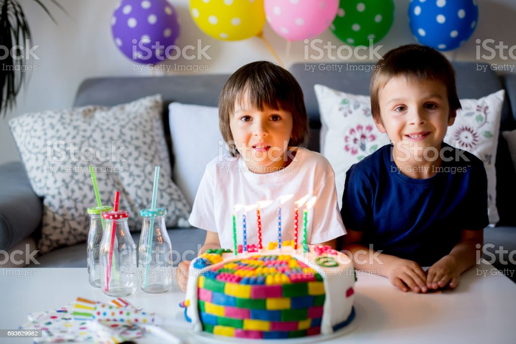 Strange Sweet Little Child And His Brother Celebrating His Sixth Birthday Funny Birthday Cards Online Aeocydamsfinfo