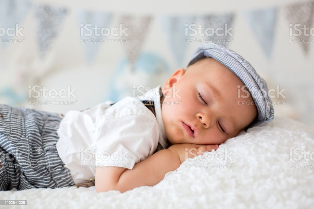 Sweet Little Child Baby Boy Sleeping In A Sunny Bedroom During The Day Having A Rest Stock Photo Download Image Now Istock