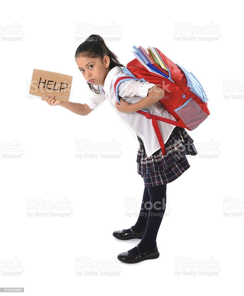 Blackpink Zero Budget: Sweet Little Child Carrying Very Heavy Backpack School Bag