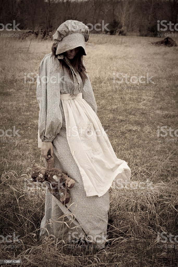 Sweet little girl... stock photo