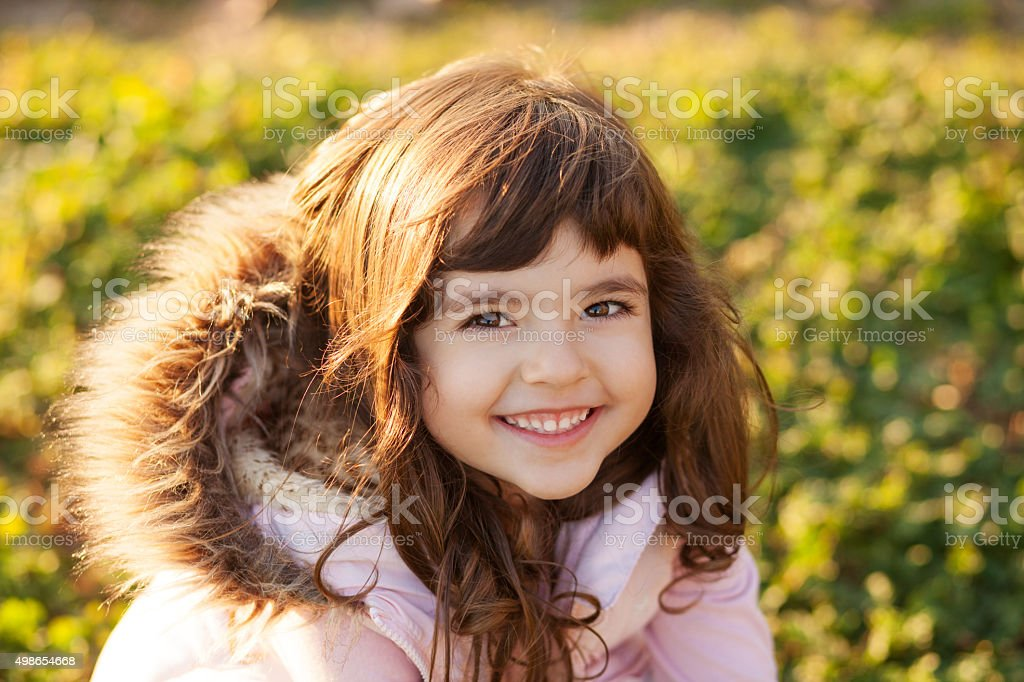 Sweet little girl stock photo