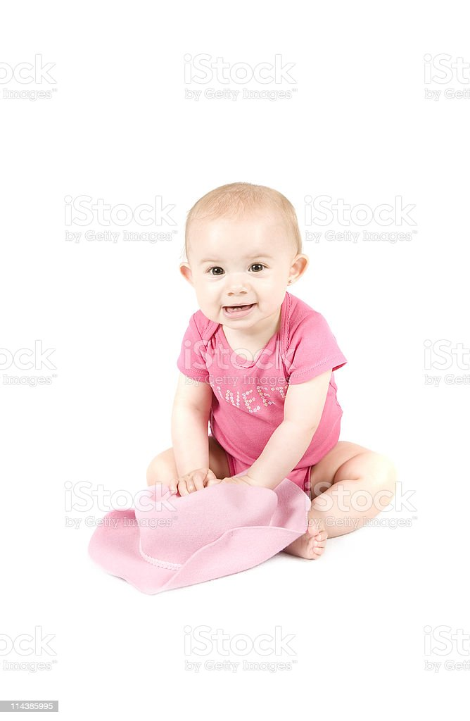 8f8e296e25b28 Sweet Little Girl Series Cowboy Hat Stock Photo   More Pictures of ...