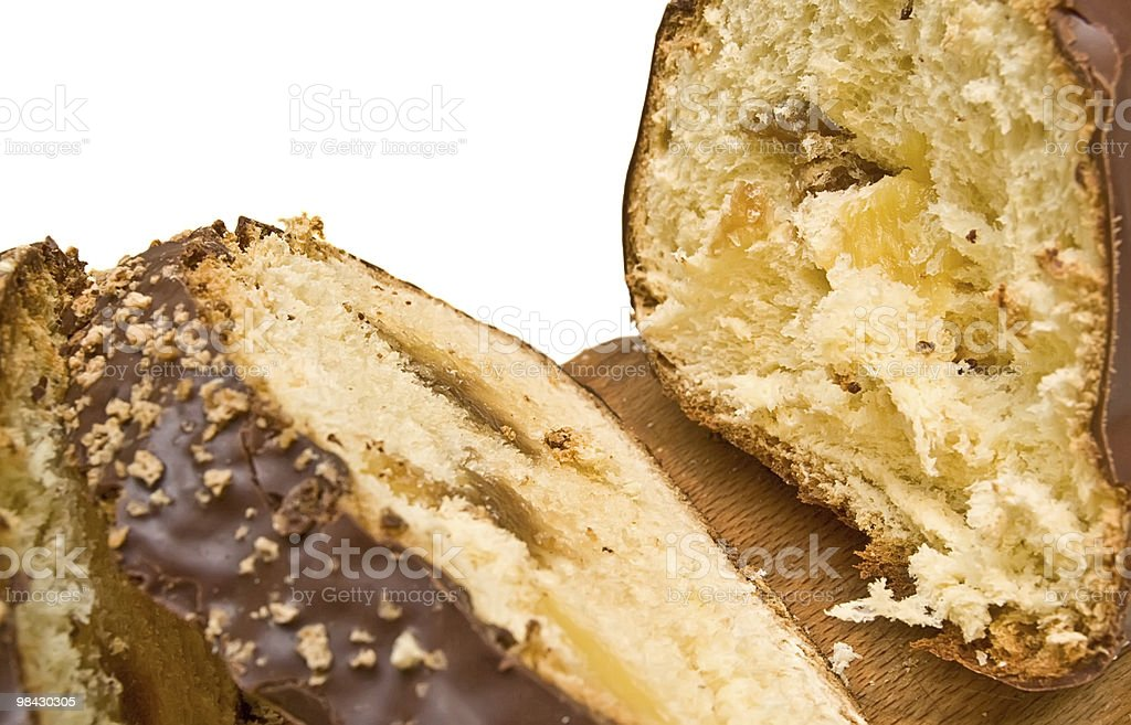 sweet loaf in a chocolate with jam royalty-free stock photo