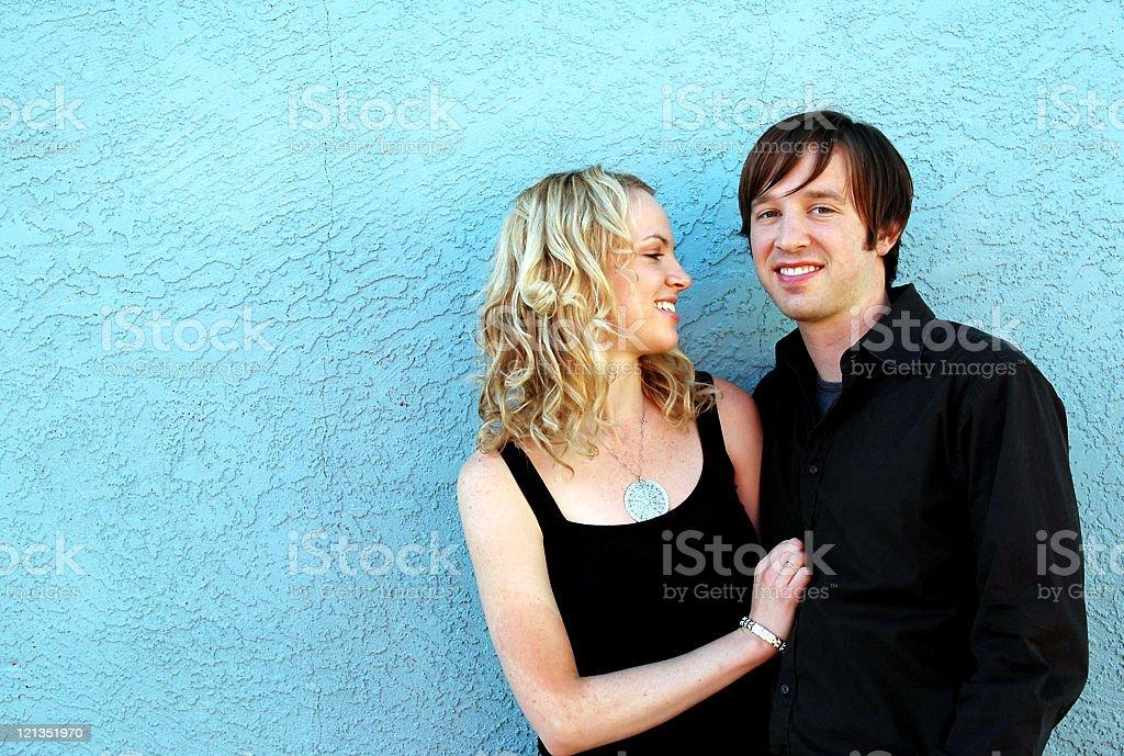 Sweet Love: Cute Couple royalty-free stock photo