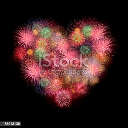 istock Sweet Love heart by Colorful fireworks 163943108