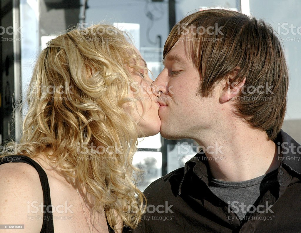 Sweet Love Series: Couple Kissing royalty-free stock photo
