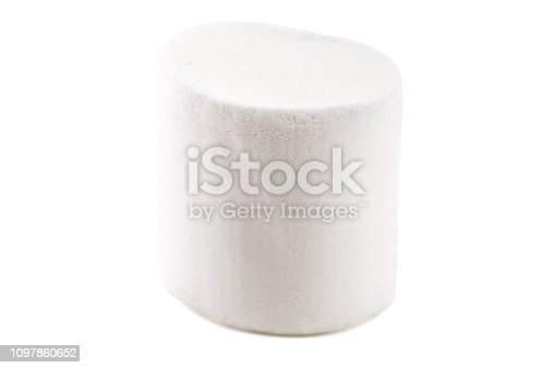 sweet marshmallow isolated on white
