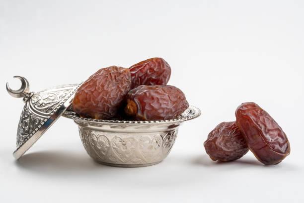 Sweet Medjools (date fruits) for bairam (bayram). stock photo