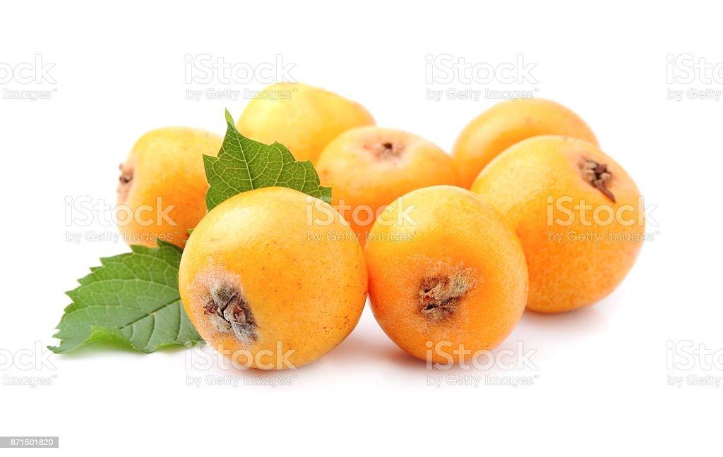 Sweet medlar fruits stock photo