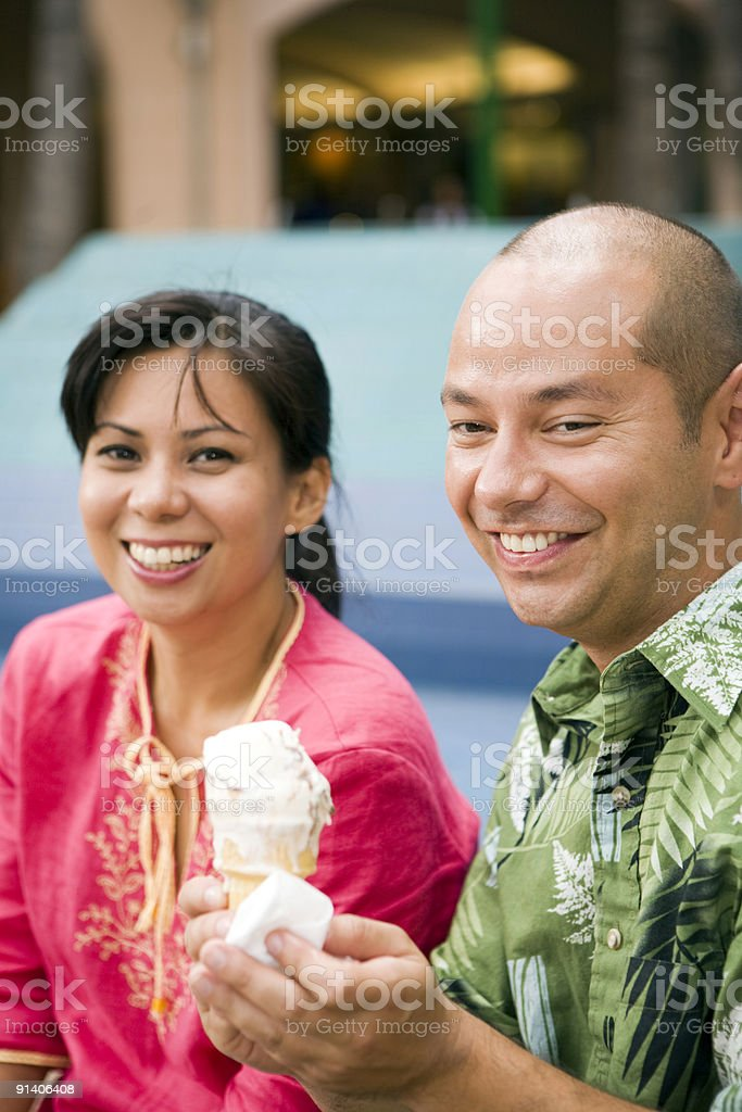 Sweet Melting Fun royalty-free stock photo