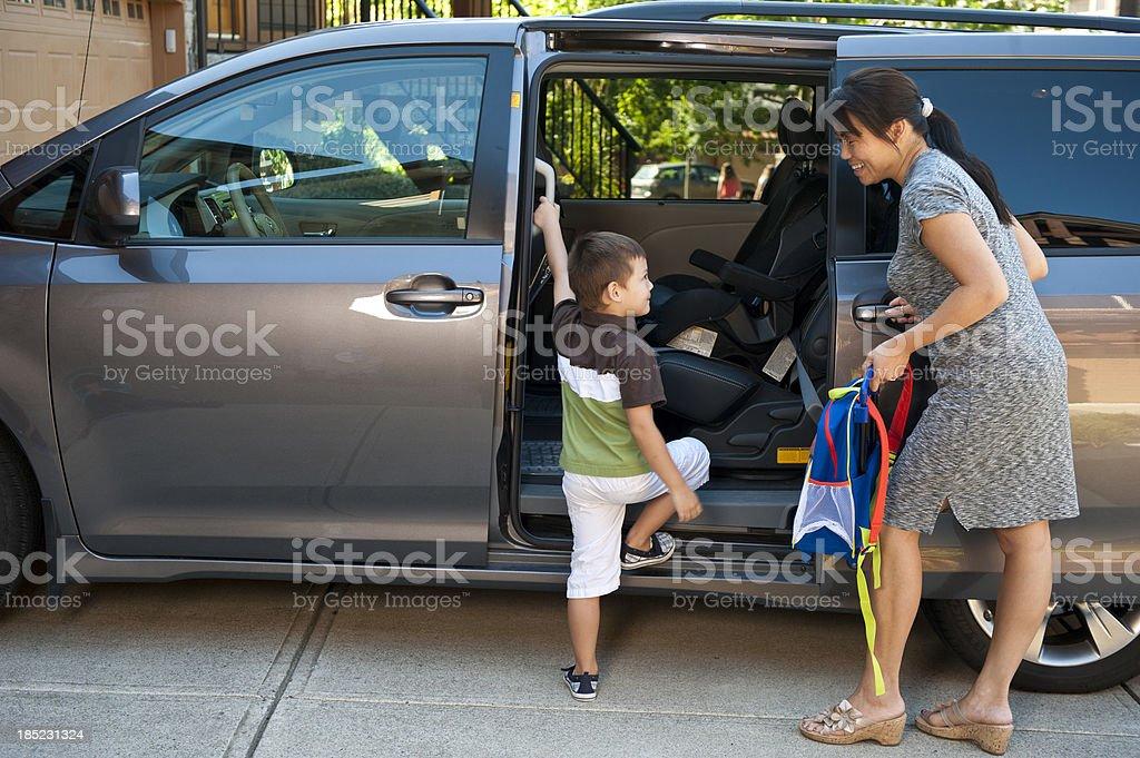 Sweet Minivan Action royalty-free stock photo