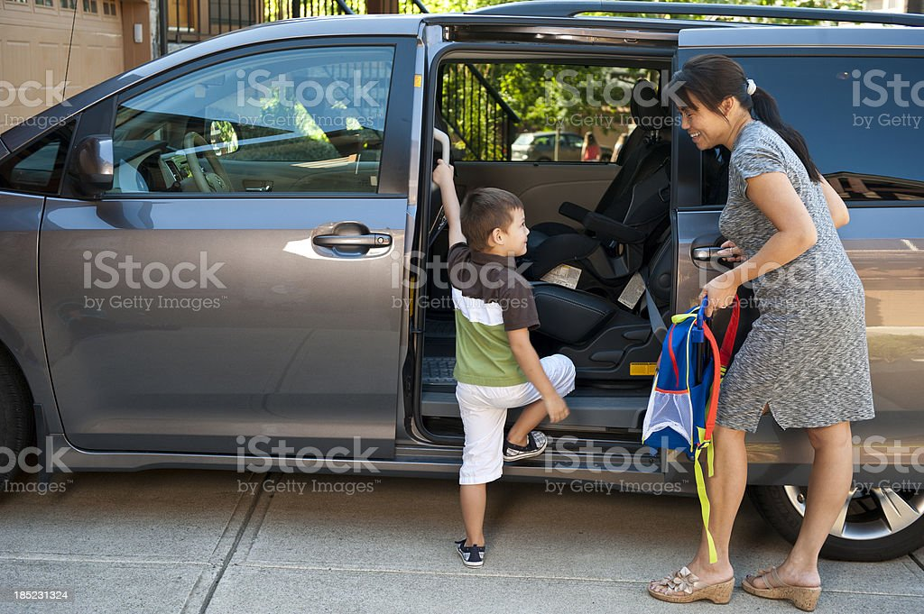 Sweet Minivan Action stock photo