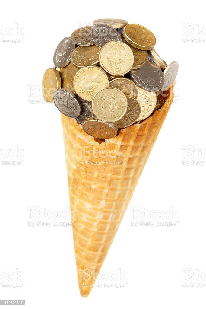Sweet money ice cream. royalty-free stock photo