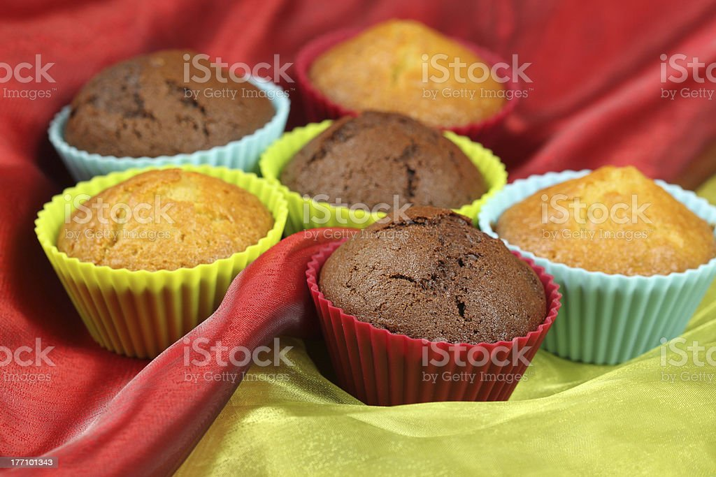 Sweet muffin cakes royalty-free stock photo