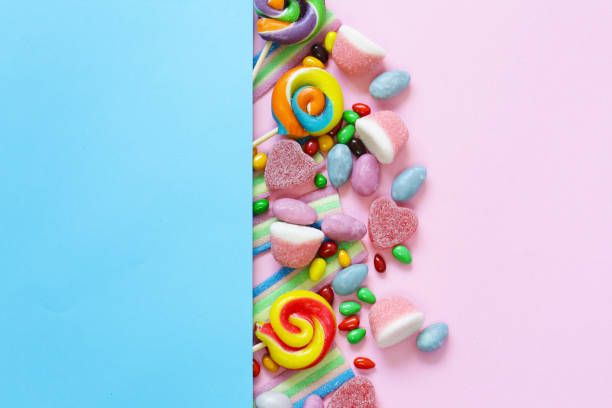 Sweet multicolored dragées candy and jelly sweets Sweet multicolored dragées candy and jelly sweets jujube candy stock pictures, royalty-free photos & images