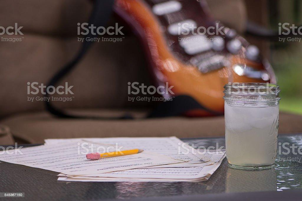 Sweet music and Lemonade stock photo