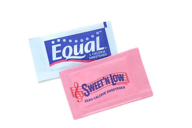 Sweet N Low and Equal sweetener stock photo