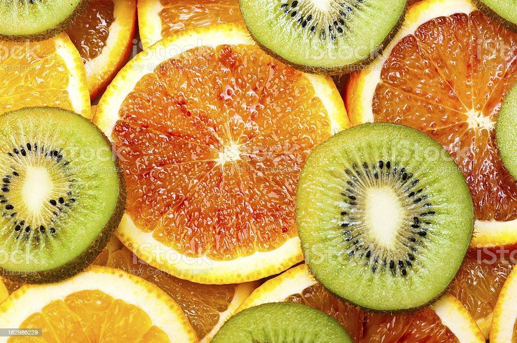 sweet oranges and kiwi royalty-free stock photo