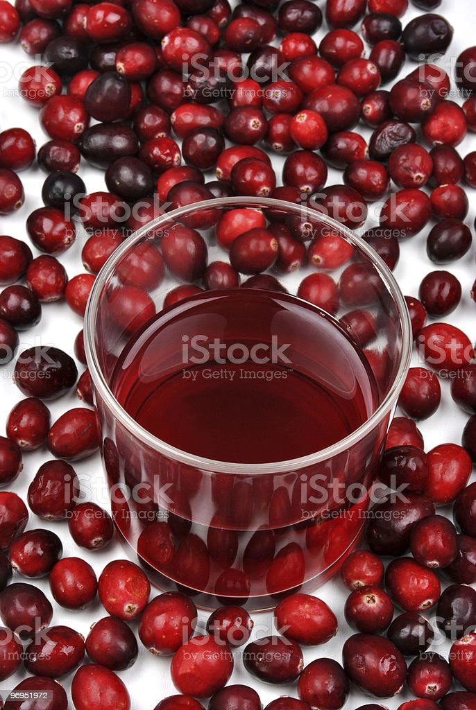 sweet organic cranberries and juice in a glass royalty-free stock photo