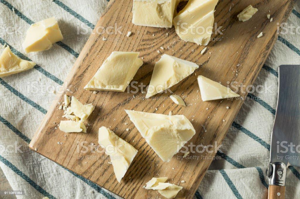 Sweet Organic White Chocolate Chunks stock photo
