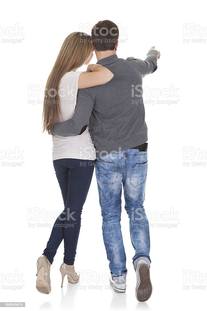 Sweet partners hold hands royalty-free stock photo