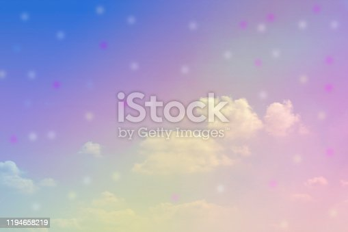 917116520 istock photo Sweet Pastel sky and clouds, colorful background 1194658219