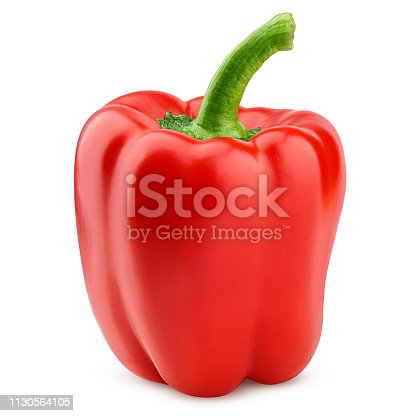 sweet pepper, paprika, isolated on white background, clipping path, full depth of field