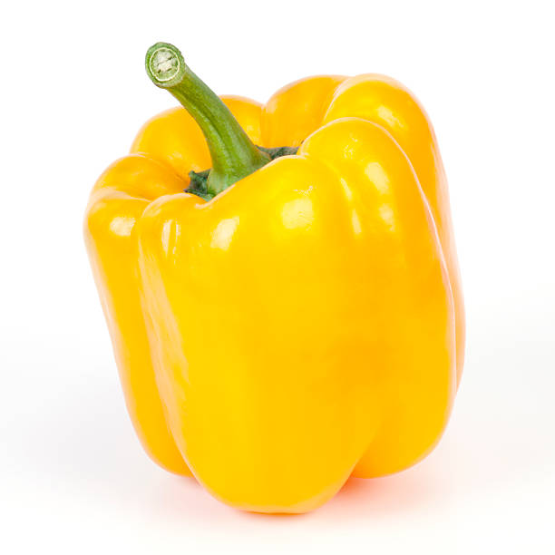 Sweet pepper Sweet pepper on white background. yellow bell pepper stock pictures, royalty-free photos & images