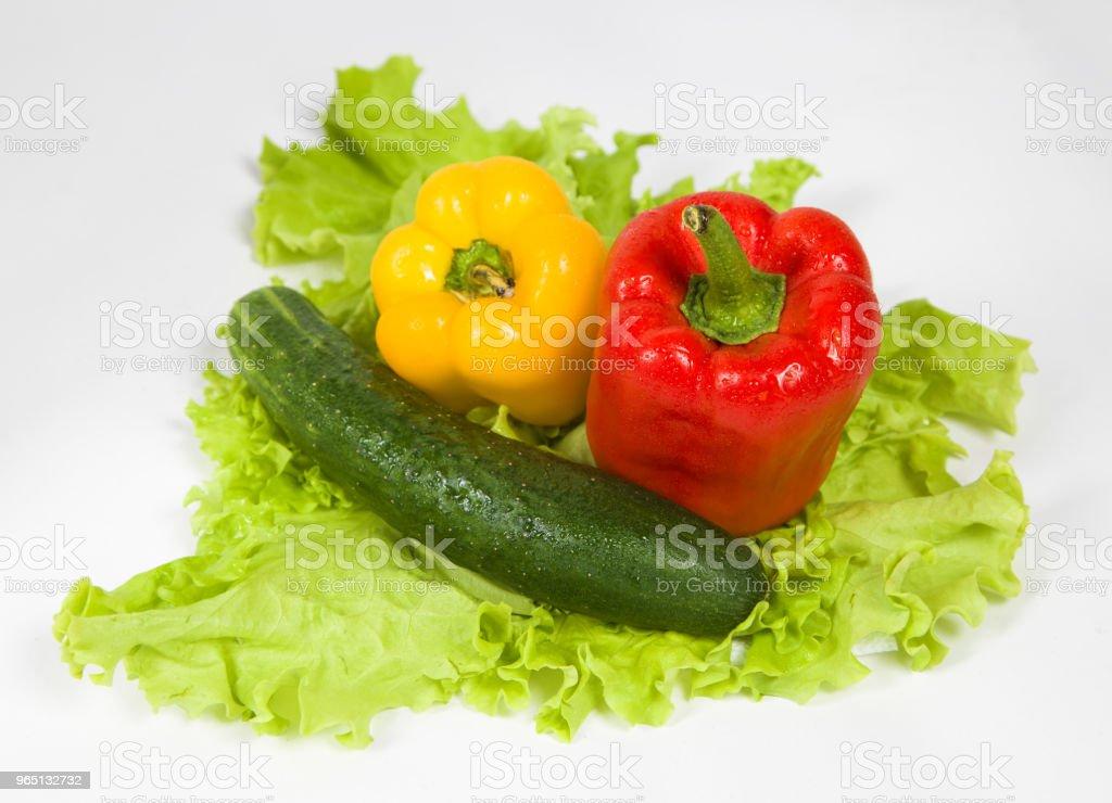 Sweet peppers and salad zbiór zdjęć royalty-free