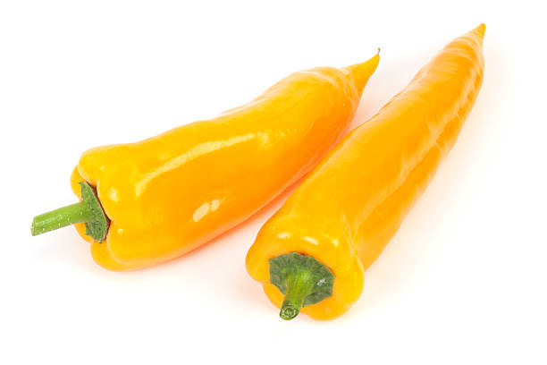 Sweet peppers Sweet peppers on white background. yellow bell pepper stock pictures, royalty-free photos & images